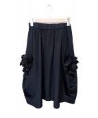 COMME des GARCONS COMME des GARCONS(コムデギャルソンコムデギャルソン)の古着「フリルデザインスカート」|ブラック