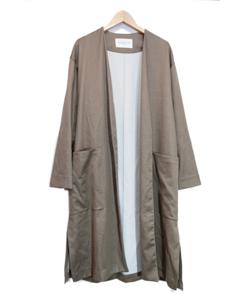 TOMORROW LAND(トゥモローランド)TOMORROW LAND (トゥモローランド) テンセルボンディング ノーカラーコート ベージュ サイズ:36 春物の古着・服飾アイテム