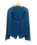 HIROKO KOSHINO(ヒロコ コシノ)の古着「デザインカーディガン」|ブルー