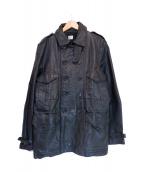 C.P COMPANY(シーピーカンパニー)の古着「シープスキンレザーコート」|ブラック
