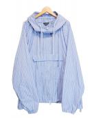 UNUSED(アンユーズド)の古着「アノラックシャツパーカー」|ブルー