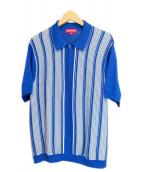 SUPREME(シュプリーム)の古着「Half Zip Polo」|ブルー