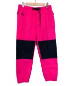 NIKE ACG(ナイキエーシージー)の古着「RAIL PANT/クライミングパンツ」|ショッキングピンク