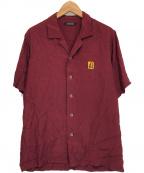 CHRISTIAN DADA(クリスチャンダダ)の古着「オープンカラーシャツ」 ボルドー