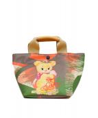 Vivienne Westwood(ヴィヴィアンウエストウッド)の古着「クリーピーベアハンドバッグ」|グリーン×オレンジ