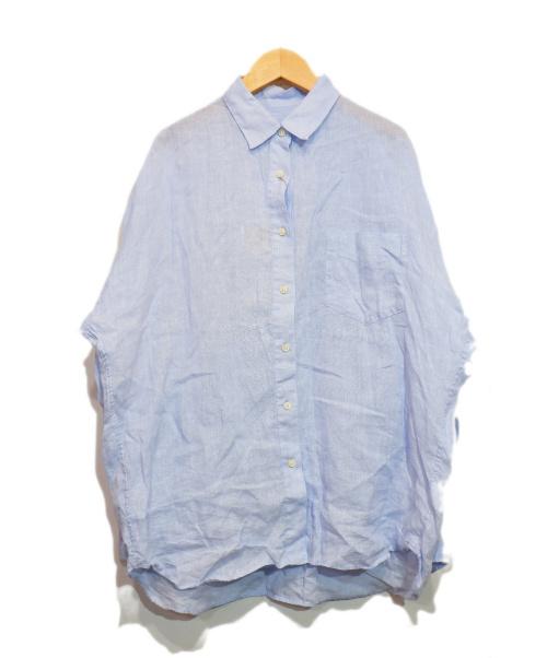 Curensology(カレンソロジー)Curensology (カレンソロジー) リネンビッグシャツ ブルー サイズ:F 未使用品の古着・服飾アイテム