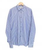 LITTLEBIG(リトルビッグ)の古着「STRIPE SHIRT」|ブルー