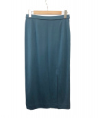 LEONARD(レオナール)の古着「スリットスカート」|グリーン