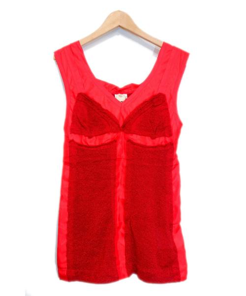 TAO COMME des GARCONS(タオ コムデギャルソン)TAO COMME des GARCONS (タオ コムデギャルソン) ラメブラウス レッド サイズ:M 未使用品 AD2007の古着・服飾アイテム