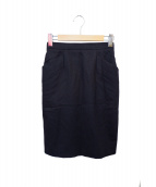 Saint Laurent rive gauche(サンローランリヴゴーシュ)の古着「ウールタイトスカート」|ブラック