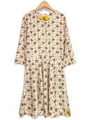 ck Calvin Klein(シーケーカルバンクライン)の古着「ブラウスワンピース」|ベージュ