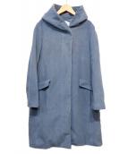 UNTITLED(アンタイトル)の古着「ションヘルウールフーデッドコート」|ブルー×グレー