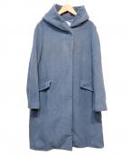 UNTITLED()の古着「ションヘルウールフーデッドコート」 ブルー×グレー