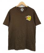 ANREALAGE(アンリアレイジ)の古着「ワッペンTシャツ」|ブラウン