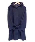 A.P.C.(アーペーセー)の古着「フーデッドメルトンコート」|ネイビー