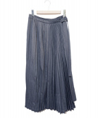 ZUCCA(ズッカ)の古着「プリーツラップスカート」|グレー