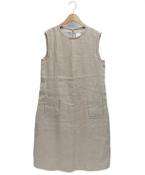 S Max Mara(エス マックスマーラ)S Max Mara (エス マックスマーラ) ノースリーブワンピース ベージュ サイズ:表記サイズ:42の古着・服飾アイテム