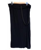 YOHJI YAMAMOTO(ヨウジヤマモト)の古着「ワンショルダードロストスカート」|ブラック