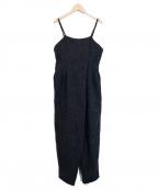 LEINWANDE(ラインヴァンド)の古着「Tweed Belted Jumpsuits /オールインワ」 グレー