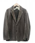 ()の古着「ニットコーデュロイジャケット」 グレー