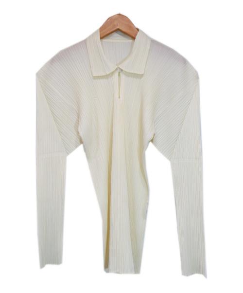 PLEATS PLEASE(プリーツプリーズ)PLEATS PLEASE (プリーツプリーズ) プリーツブラウス アイボリー サイズ:3の古着・服飾アイテム