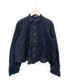 KENZO(ケンゾー)の古着「オールドレースシャツ」|ネイビー