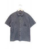 TENDERLOIN(テンダーロイン)の古着「S/Sワークシャツ」|グレー