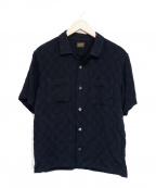 TENDERLOIN(テンダーロイン)の古着「オープンカラーレーヨンシャツ」|ブラック