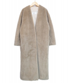 Rouge vif(ルージュヴィフ)の古着「エコファーロングボアコート」|ベージュ