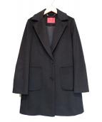 MAX&Co.(マックスアンドコー)の古着「ピュアウールクロップドコート」|ブラック