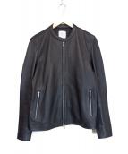 UNITED TOKYO(ユナイテッドトウキョウ)の古着「ラムレザーシングルライダース」|ブラック
