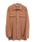 MALO(マーロ)の古着「リネンCPOジャケット」|ブラウン