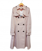 LAISSE PASSE(レッセパッセ)の古着「トレンチコート」|ピンク