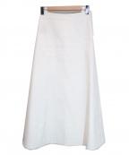 THE ROW(ザ ロウ)の古着「ロングフレアスカート」|ホワイト