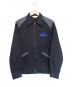 TENDERLOIN(テンダーロイン)の古着「刺繍ジップアップジャケット」|ブラック