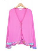 LEONARD(レオナール)の古着「カーディガン」|ピンク