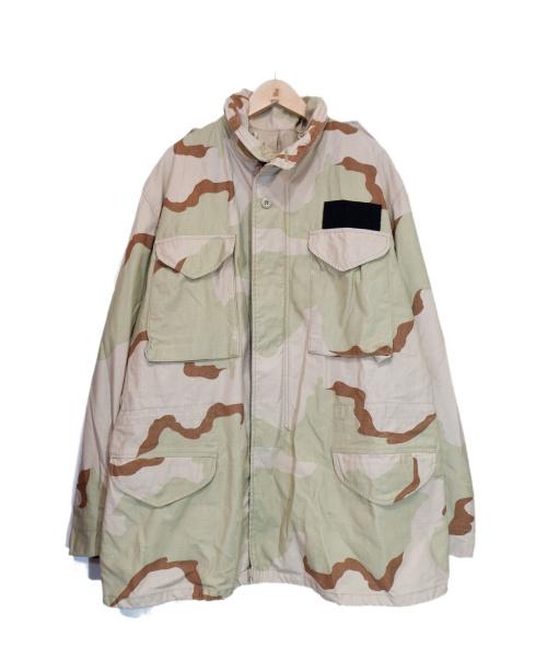 US ARMY(ユーエスアーミー)US ARMY (ユーエスアーミー) M-65ミリタリージャケット ベージュ サイズ:LARGEの古着・服飾アイテム