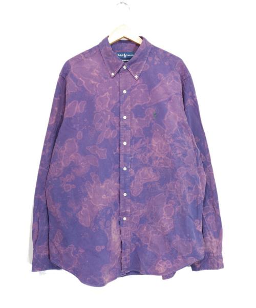 POLO RALPH LAUREN(ポロ・ラルフローレン)POLO RALPH LAUREN (ポロラルフローレン) タイダイ染めシャツ パープル サイズ:XLの古着・服飾アイテム