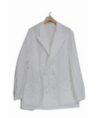 ()の古着「ダブルシャツジャケット」 ホワイト