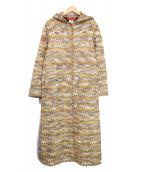 MISSONI(ミッソーニ)の古着「フーテッドニットコート」|イエロー