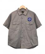 TENDERLOIN(テンダーロイン)の古着「S/Sワッペンワークシャツ」|グレー