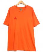 NIKE ACG(ナイキエージーシー)の古着「ロゴ刺繍カットソー」 オレンジ