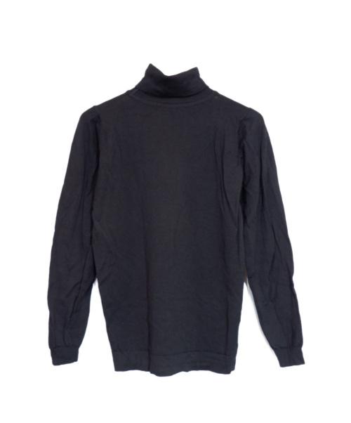 JOHN SMEDLEY(ジョンスメドレー)JOHN SMEDLEY (ジョンスメドレー) タートルネックニット ブラック サイズ:Sの古着・服飾アイテム