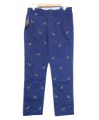 POLO RALPH LAUREN(ポロ・ラルフローレン)の古着「刺繍ワークパンツ」|ネイビー