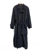JURGEN LEHL(ヨーガンレール)の古着「シルクコットントレンチコート」 ブラック