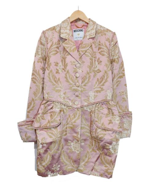 MOSCHINO(モスキーノ)MOSCHINO (モスキーノ) 和織コート ピンク サイズ:42の古着・服飾アイテム