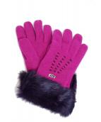 FENDI(フェンディ)の古着「カシミヤ手袋」|ショッキングピンク