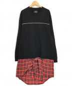 glamb(グラム)の古着「ブロックレイヤードスウェット」|ブラック
