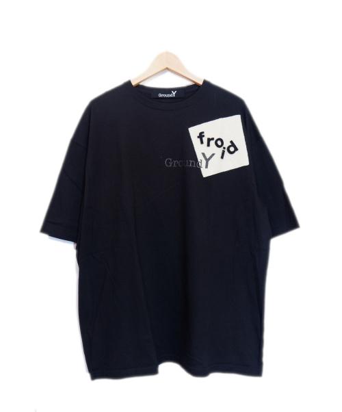 GROUND Y(グランドワイ)GROUND Y (グランドワイ) パッチワークデザインカットソー ブラック サイズ:4 PATCHWORK CUT TEEの古着・服飾アイテム