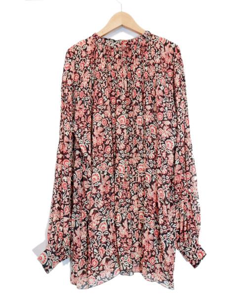 SOULEIADO(ソレイアード)SOULEIADO (ソレイアード) シーアプリーツシャツ レッド サイズ:36 TOMORROW LAND取扱の古着・服飾アイテム